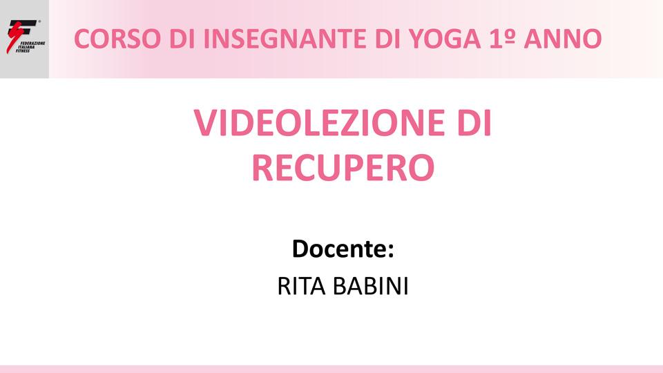 videolezione recupero yoga